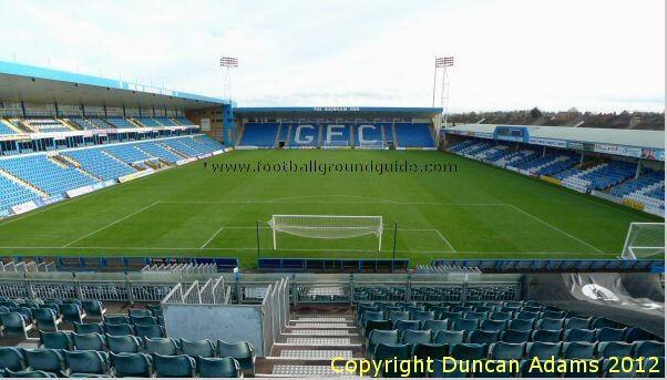 Gillingham, when Brighton ground shared! via www.footballground.com