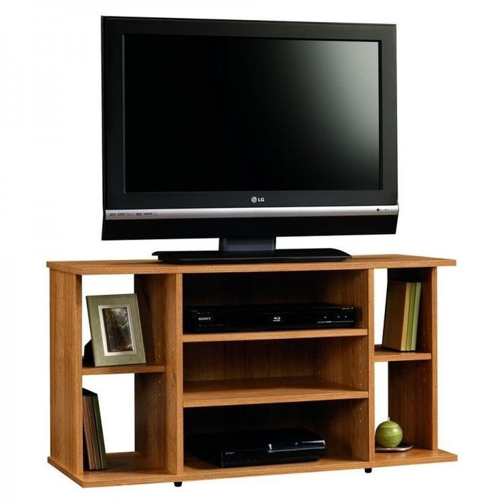 #tvstand #42inchtv 42 inch TV Stand Entertainment Center Media Console Wood  Furniture Cabinet Shelf