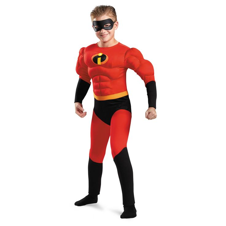 Halloween Boys' The Incredibles Dash Muscle Costume - L (10-12), Multicolored