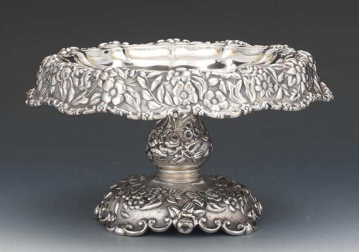 A Tiffany & Co silver cake pedestal