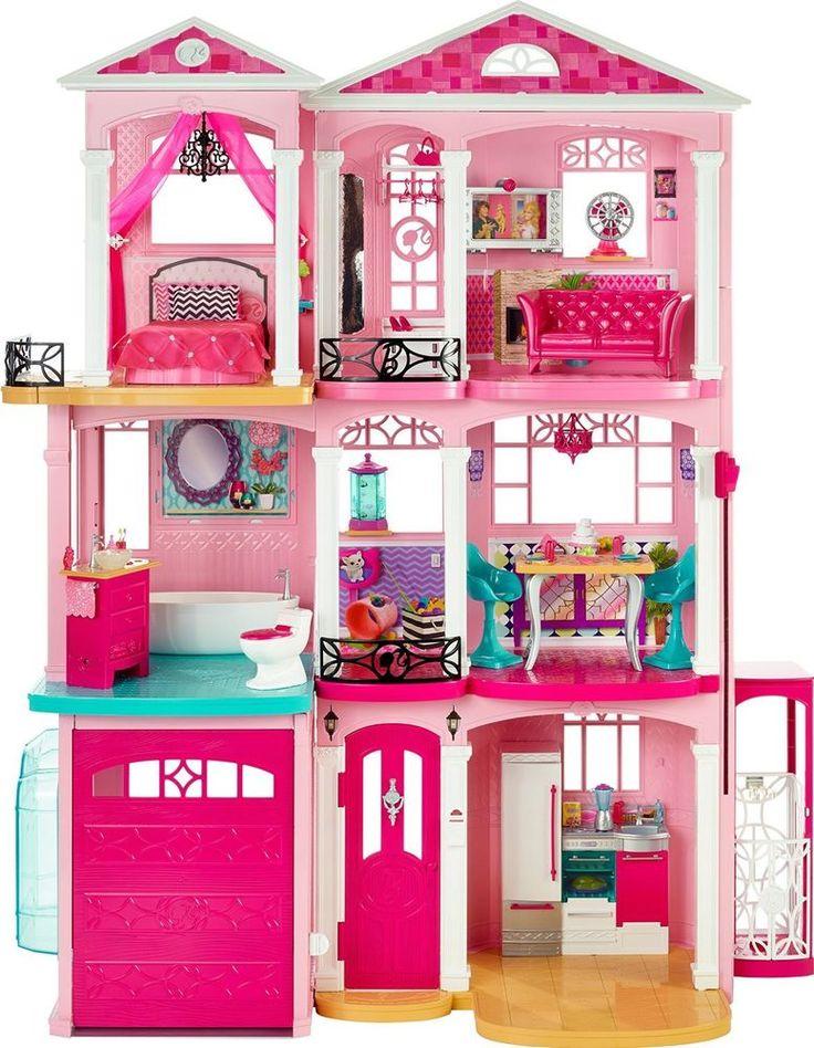 Barbie Dream House Doll Furniture Girls Dreamhouse Dollhouse Vintage Pink Girls #Mattel