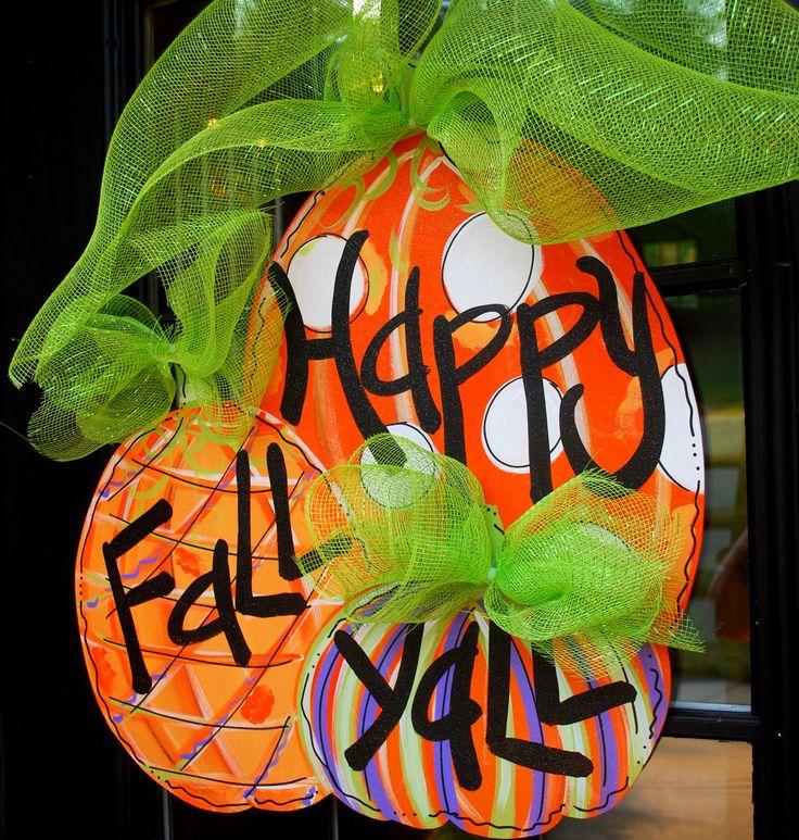 Fall Door Hanger, Pumpkin Door Decoration, Fall Home Decor