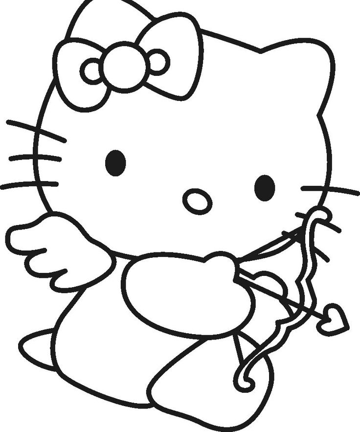 Hello Kitty Was About To Archery Coloring Page
