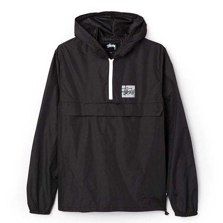 Stussy: Stock Packable Pullover - Black
