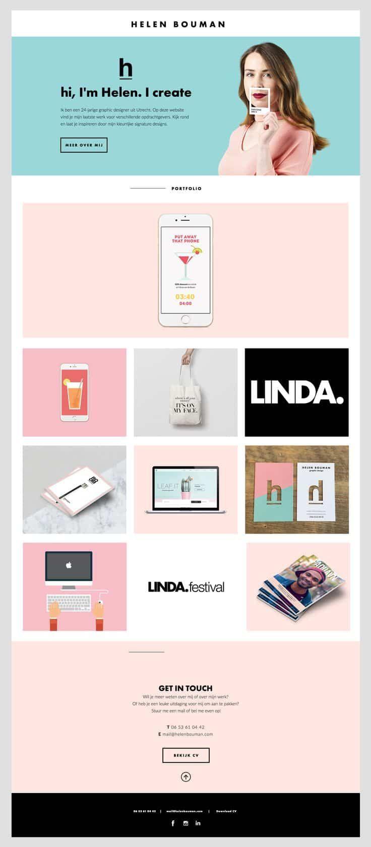 Simple But Creative Portfolio Website Design For Graphic Designer Portfolio Website Design Freelance Graphic Design Portfolio Website