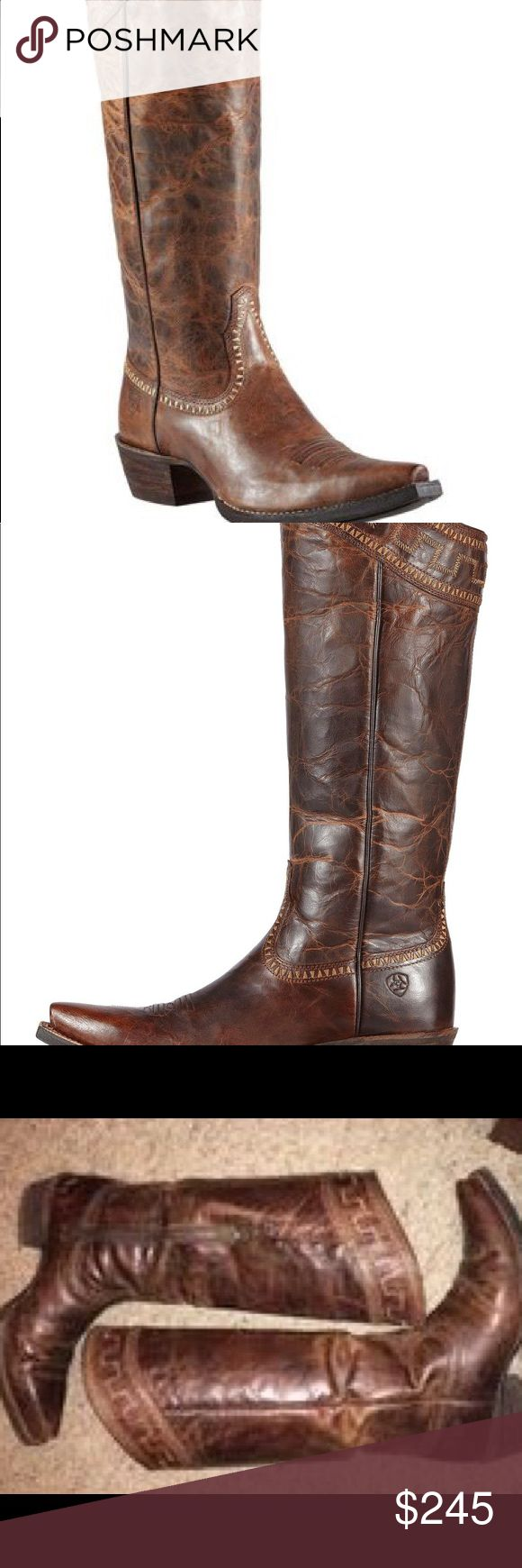 """Ariat cowboy boots Ariat Sahara 15"""" Cowgirl Riding Boots - Snip Toe. Brand New Ariat Shoes Heeled Boots"""