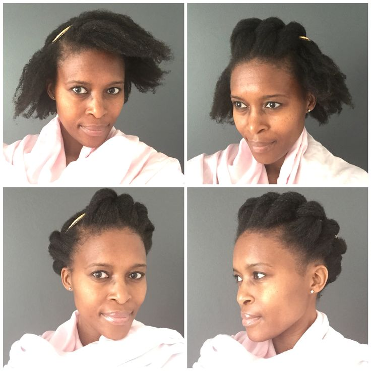 Just tuck the hair under the hair band for this elegant style...natural hair