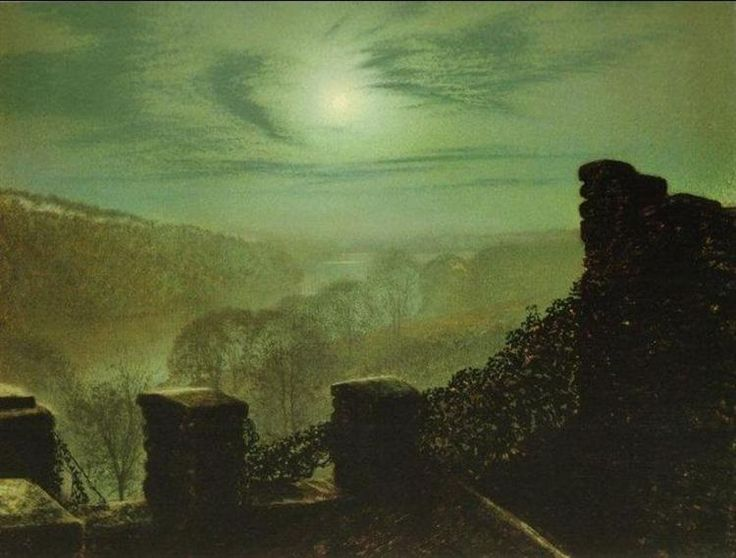 Full+Moon+behind+Cirrus+Cloud+from+the+Roundhay+Park+Castle+Battlements,+1872+-+John+Atkinson+Grimshaw