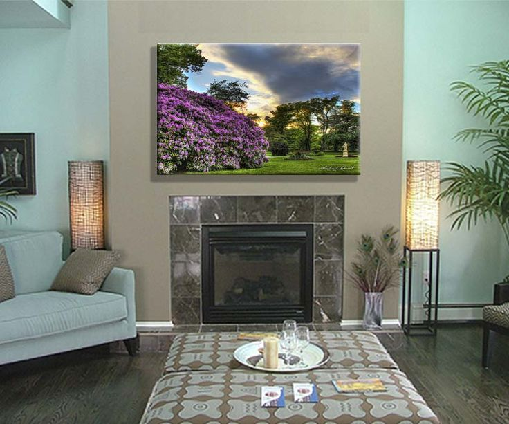 A canvas print of rhododendron tree blossoms...  in the Public Gardens of Halifax, Nova Scotia, Canada. available on site: www.charlesedoucetcreatives.com