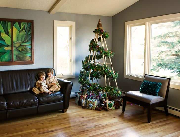 christmas tree substitutes | Greener Holiday Season Jubiltree Wooden Christmas Tree Alternative ...