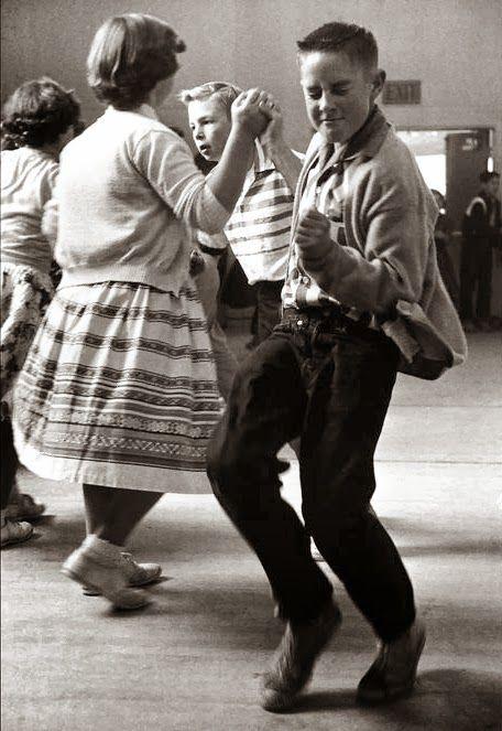 School dance, Orinda, California, 1950.  This kid is feeling it......:)