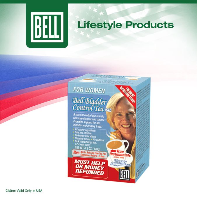 If you are one of the many women dealing with urinary incontinence, Bell Bladder Control Tea for Women is the perfect natural solution to end those sleepless nights and days of isolation. Learn more about Bell Bladder Control Tea for Women on our website today. http://www.belllifestyleproducts.com/04b-bladder-control-tea.htm