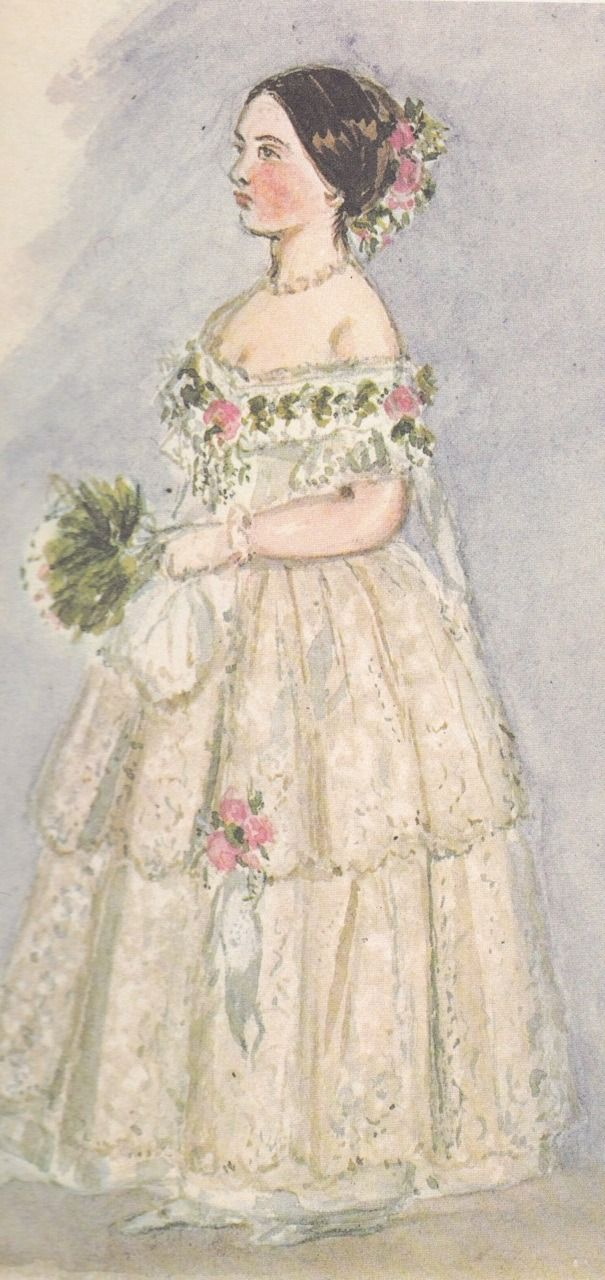Princess Victoria, or Vicky, later Empress of Germany, as drawn by her mother Queen Victoria.