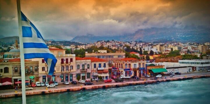 Chios port - Greece. Χίος, λιμάνι, Ελλάδα