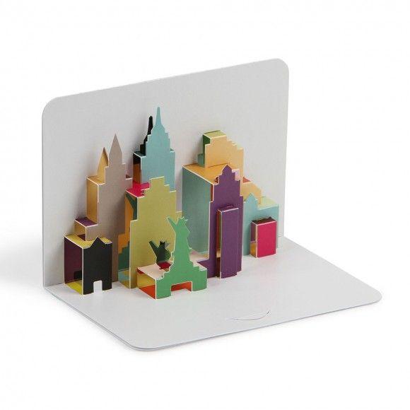 New York city skyline 3D pop-up card