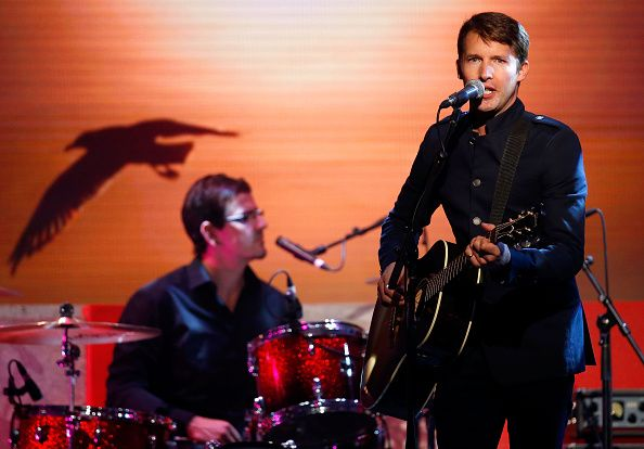 James Blunt performs onstage during the 2015 Brownlow Medal count at the Crown Palladium, Melbourne, Australia on September 28, 2015. (Photo by Adam Trafford/AFL Media/Getty Images)