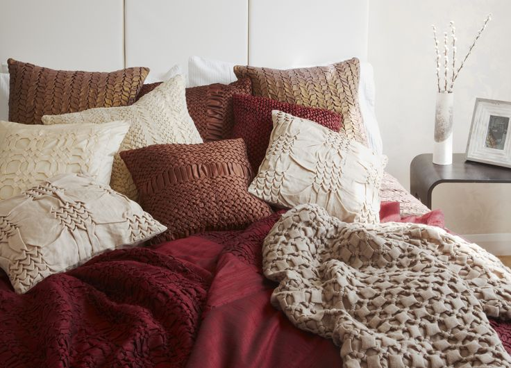 An assortment of cushions and throws from the Nitin Goyal collection. http://www.pomegranate-living.com/brands-nitin-goyal.irc