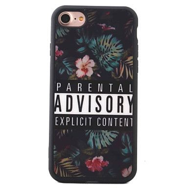 Para+Estampada+Capinha+Capa+Traseira+Capinha+Flor+Macia+TPU+AppleiPhone+7+Plus+/+iPhone+7+/+iPhone+6s+Plus/6+Plus+/+iPhone+6s/6+/+iPhone+–+EUR+€+3.91