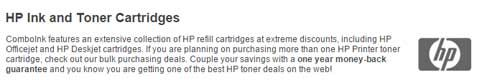 Save 15% Discount ComboInk HP Ink & Toner Cartridges sitewide Coupon and Promo Codes   Save 15% Discount ComboInk HP Ink & Toner Cartridges sitewide Coupon and Promo Codes Apply the coupon code at your checkout! It is your option to click the above link, after that the page will automatically turn to the right site where you can find the right product and then you can get it at more cheaper price with Coupon Code.      http://ourcouponss.com/wp-content/uploads