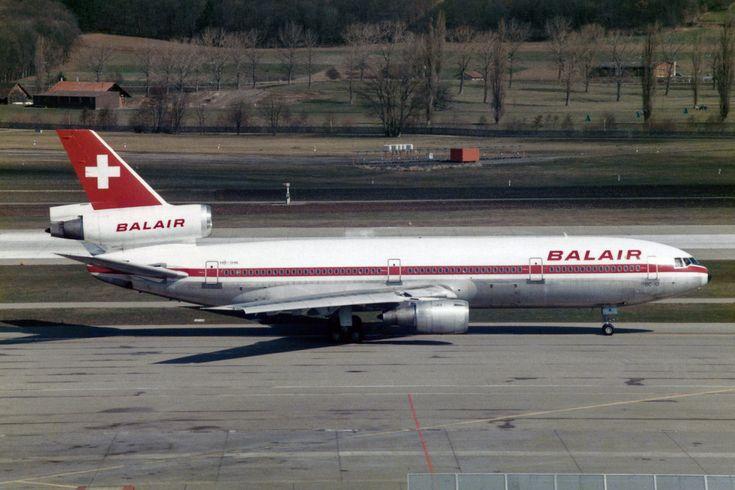 https://flic.kr/p/TCf5yD | Balair McDonnell Douglas DC-10-30 HB-IHK | Zürich (- Kloten) (ZRH / LSZH) Switzerland 4.1986  First Flight 11.1978  Del. 1.1979 to Balair HB-IHK (PICTURE) www.flickr.com/photos/kambui/31837367513/in/photolist-TCf... Martinair Holland PH-MCO McDonnell Douglas N526MD Challengair-Corsair  OO-LRM Caledonian Airways OO-LRM Challengair OO-LRM BCC-Challengair N526MD World Airways N526MD Converted to DC10-30F   Arrow Cargo N526MD  Scrapped