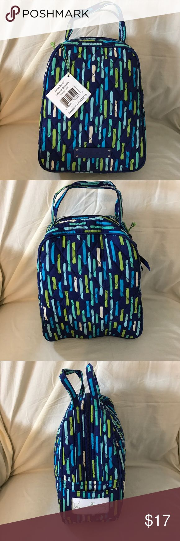 Vera Bradley Lunch Bunch Thermal Lunch Bag Authentic Vera Bradley lunch bag in the beautiful Katalina Showers pattern. This lunch bag is lined and thermal to keep your lunch cold. Vera Bradley Bags Totes