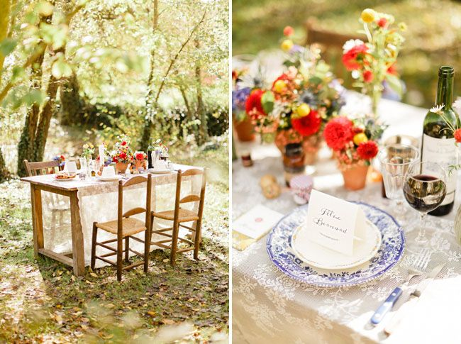 gonna use my table on the front porch Bright French Styled Wedding Inspiration