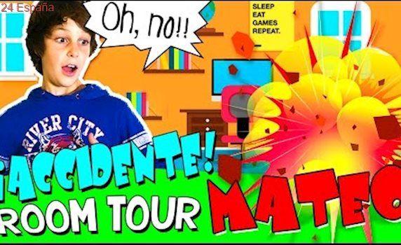 ROOM TOUR de MATEO y  ¡¡¡ACCIDENTE durante la GRABACIÓN!!!   The Crazy Haacks ROOM TOUR