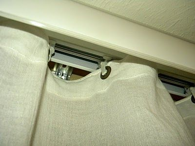 A fix for those awful vertical blinds that reuses the hardware. Yay! Totally have to do this in our porch!