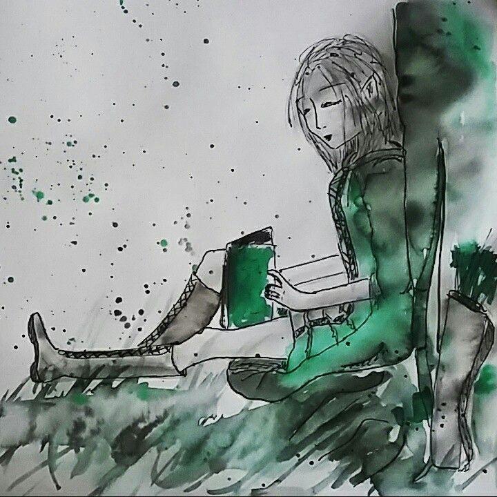 elendriel galanodel character sketch by sanne van bekkum