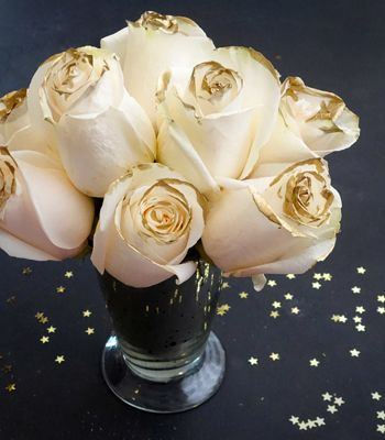 Transform classic white roses into the perfect party bouquet. | Downton Abbey, as seen on Masterpiece PBS