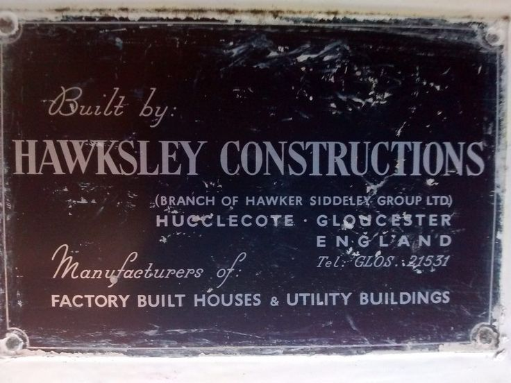 Hawksley BL8 prefabricated bungalow (Sholing Uteman) Tags: house building home prefab plate utility hampshire temporary bungalow aluminium hamble nameplate manufacturer hawksley prefabricated hawkersiddeley bl8 bl8aluminiumbungalow