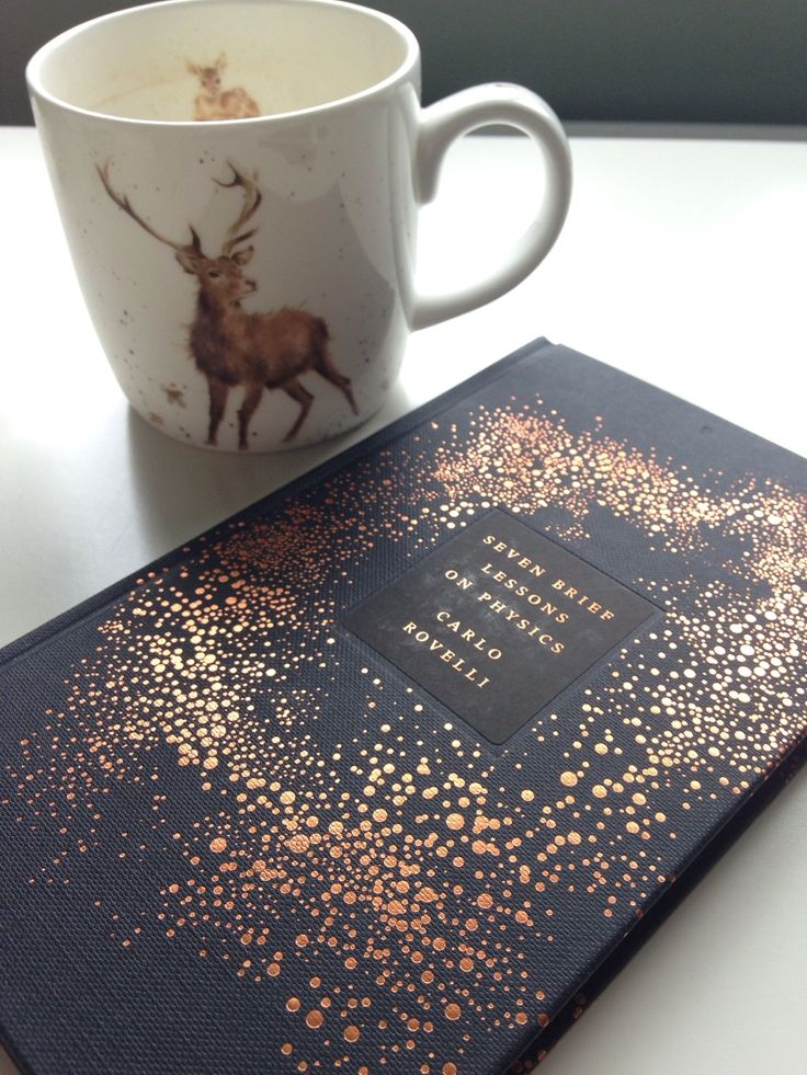 "magsmagicalbookblr: "" I'd almost finished my coffee before I remembered it was Sunday and therefore time for @bibliophilicwitch's tomes and tea! Not only is Seven Brief Lessons in Physics a beautiful book, it's also fascinating! """
