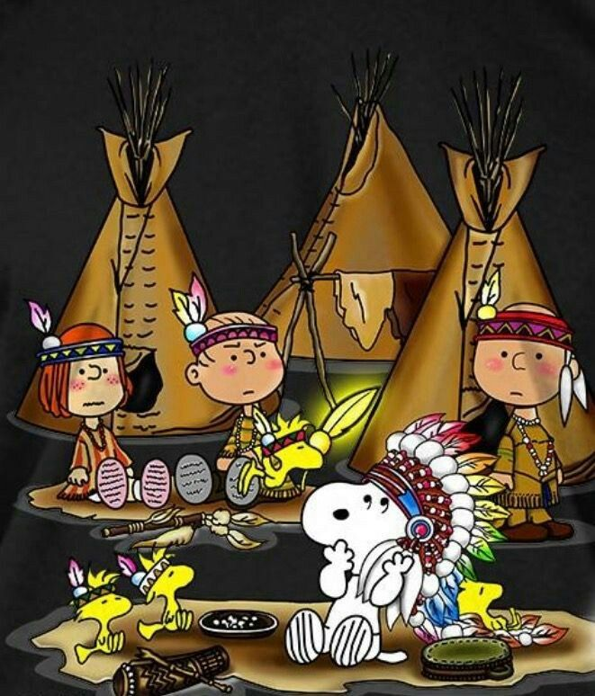 The Peanuts Gang & their Teepees #for_mom.
