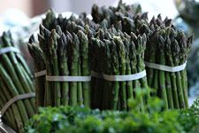 How to quick blanch asparagus. Can let steep in the dish for 10-12 minutes.