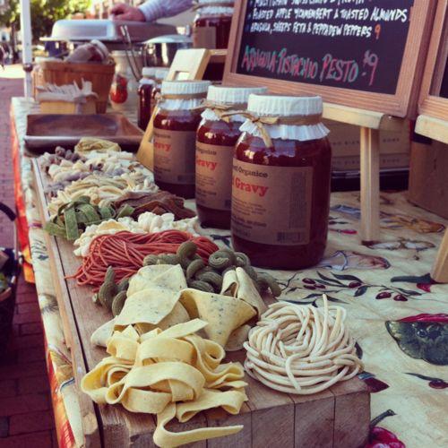 """Gimmie Spaghetti"" at the Harvard Square farmer's market"