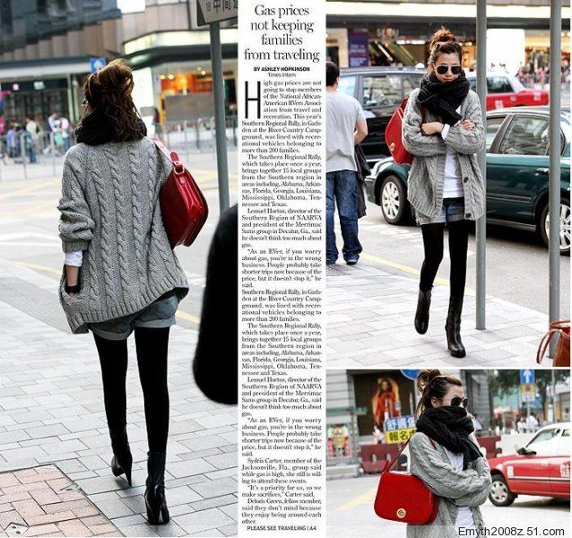 2012 women's medium-long loose 3 buckle twist thickening cardigan outerwear sweater 10% off $17.09