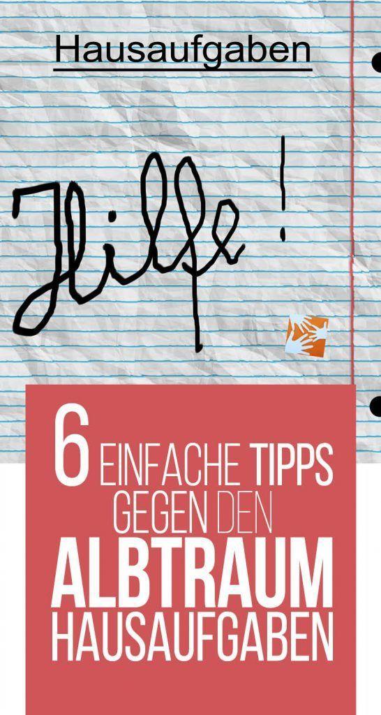 6 einfache Tipps gegen den Albtraum Hausaufgaben | Tipps für Hausaufgaben | Tipps für die Hausübung | Schule | Schulkind | Lernen | Muttis Nähkästchen