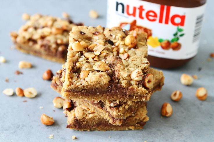 Hazelnut Nutella Cookie Bars
