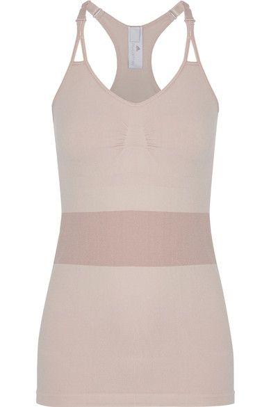 Adidas by Stella McCartney - The Tank Two-tone Stretch Top - Pastel pink - medium