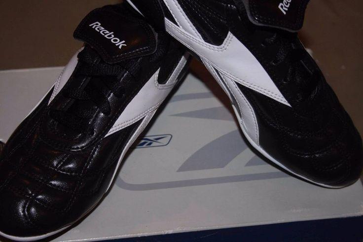Reebok Campio II RBR HG JR Kids Youth Soccer Cleats Shoes Size 6 Black White NEW #Reebok