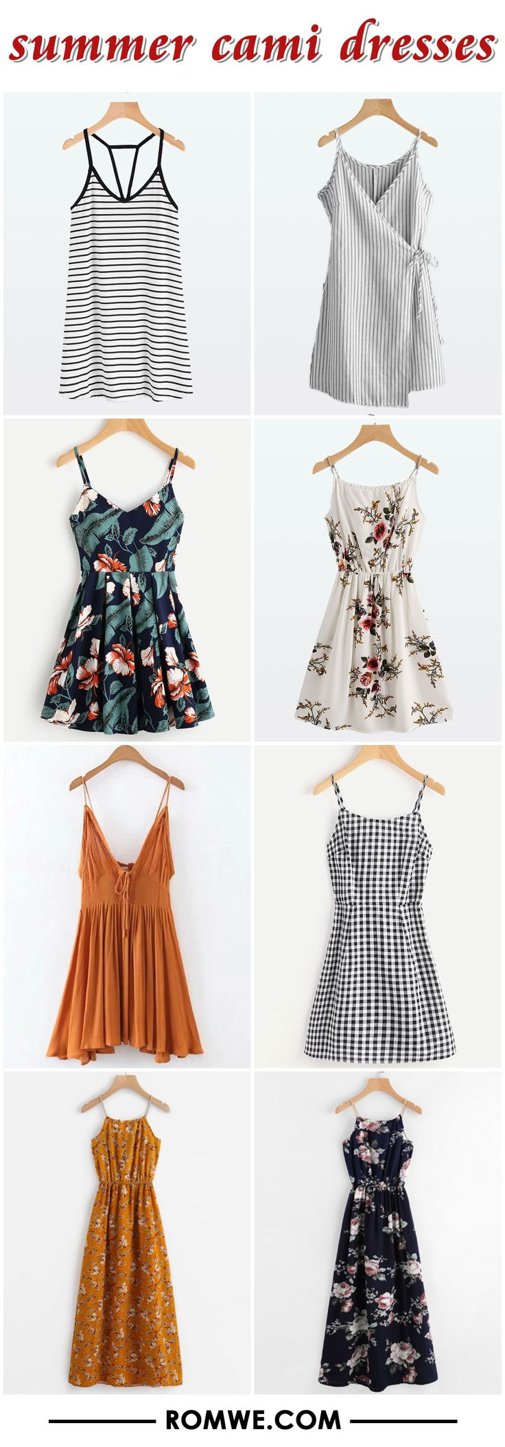 summer cami dresses collection - romwe.com