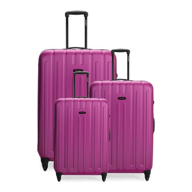 Samsonite Pink Luggage Set This Samsonite Staple Features