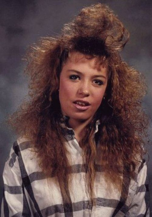 You know this girl woke up at 5:30 a.m. just to get her hair to look like this: | 25 Photos Of '80s Hairstyles So Bad They're Actually Good