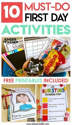 A list of 10 activities you should do to have a successful first day of school! Free printables included!