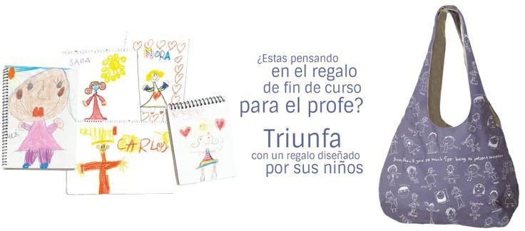 Bolsos personalizados con dibujos de ni os un regalo perfecto para la profesora - Regalos originales para la casa ...