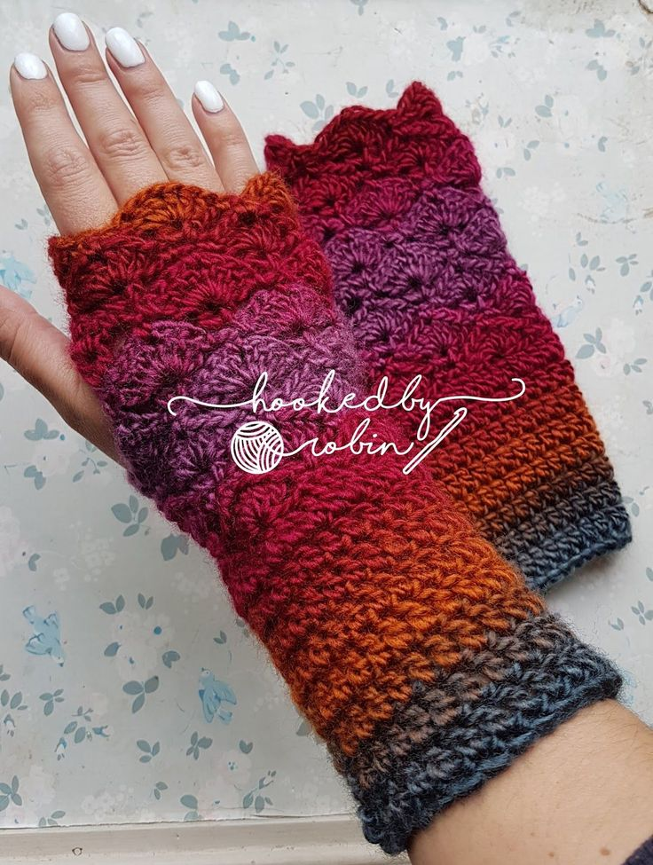 Fantail Shell Stitch Fingerless Gloves ~ pattern is downloaded in ravelry, this pin does not go to pattern