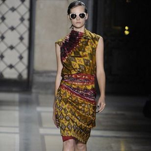 exited Indonesian batik designs by Dries van Noten