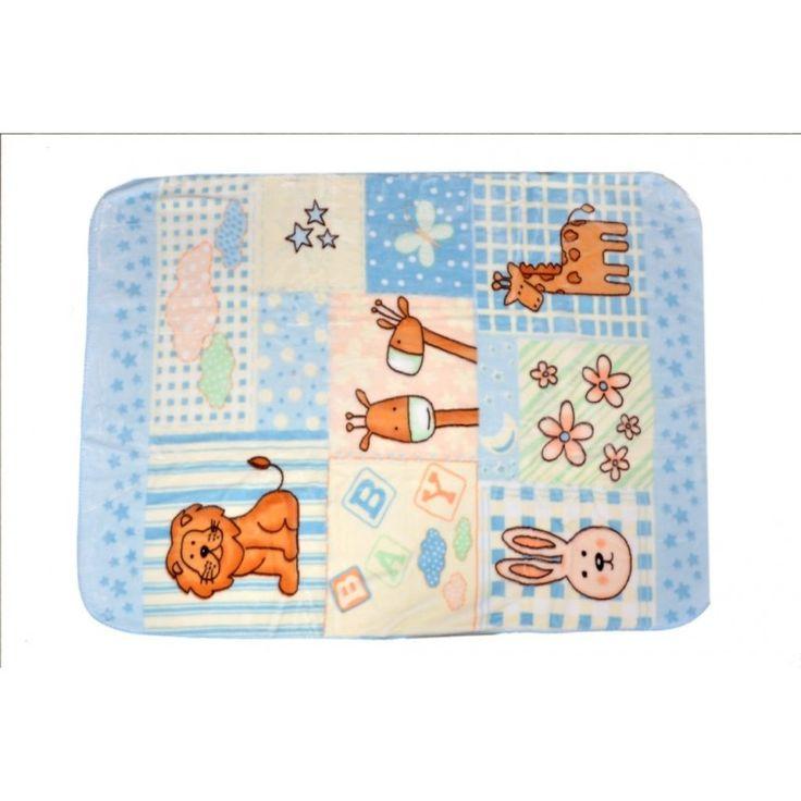 Valtellina Lion & Horse Collection Design Baby Mink Blanket (LYB-006)