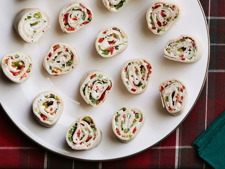 Holiday Roll Ups Recipe : Ree Drummond : Food Network - FoodNetwork.com-add 1/4 c salsa and shedded cheese maybe