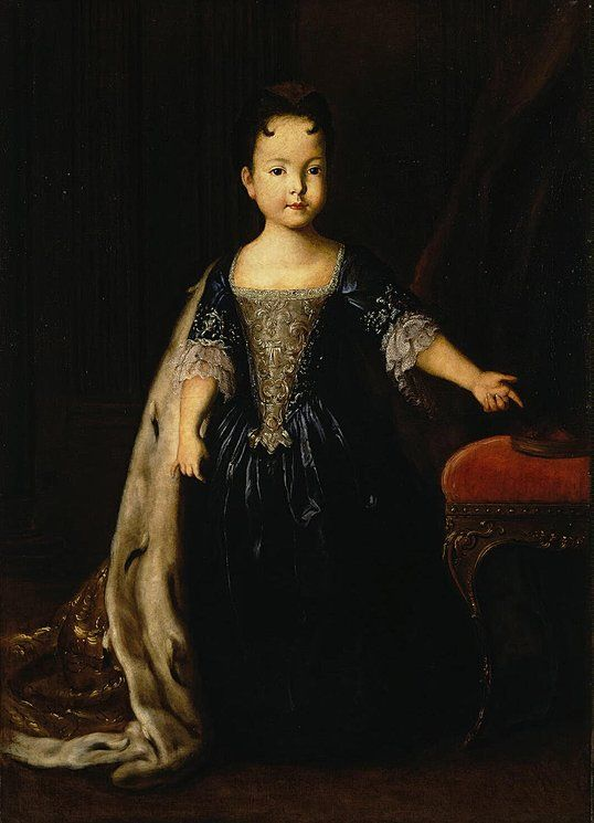 Portrait of Grand Duchess Natalia Petrovna of Russia, daughter of Peter the Great and Catherine I by Louis Caravaque in 1722. She died at the age of 6 years old.